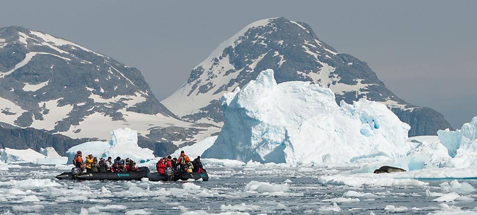 Zodiacausflug in der Antarktis