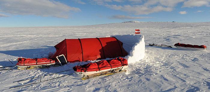 Antarktis - Zelt