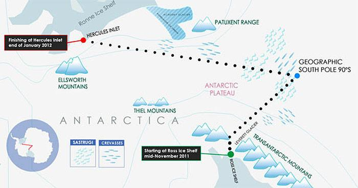 Antarctica Expedition Karte