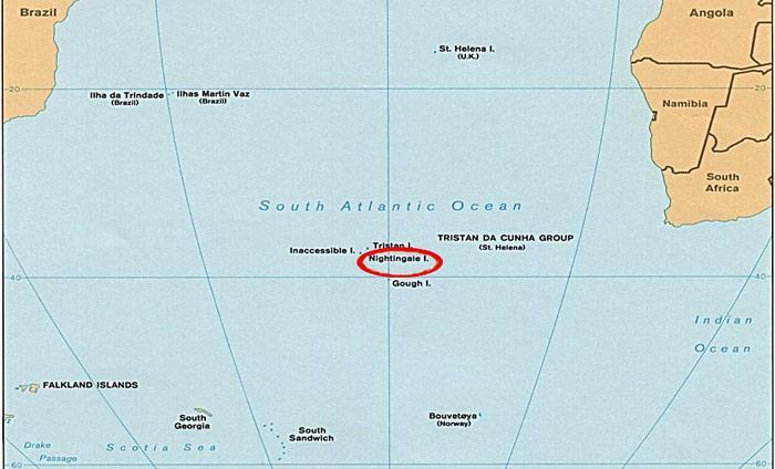 Karte Südatlantik