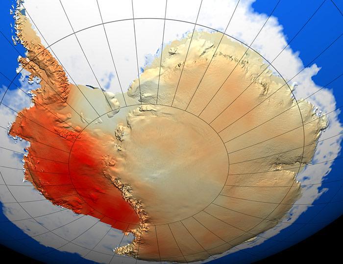 Antarktis-Erwaermung