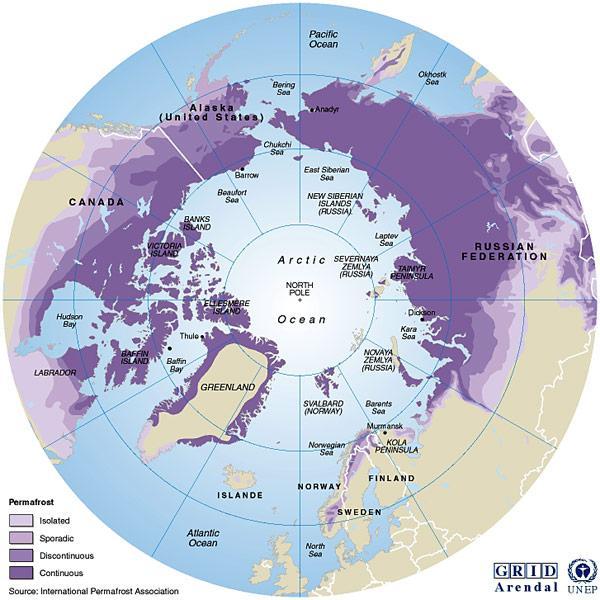 Karte-Permafrost