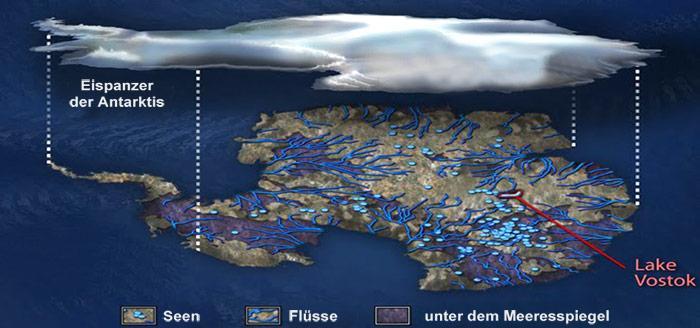 Antarktis - Subglaciale Seen
