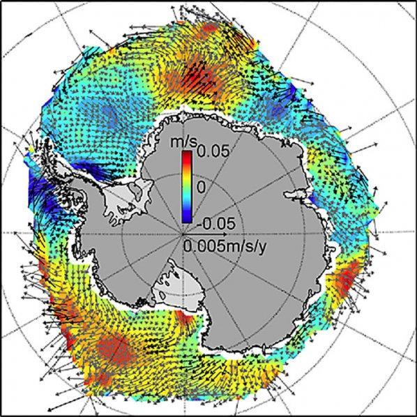 Durch veränderte Windverhältnisse nimmt das Meereis rund um die Antarktis zu.