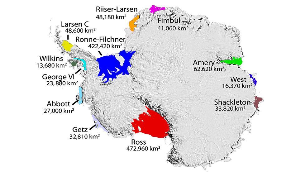 Eisschelfe der Antarktis