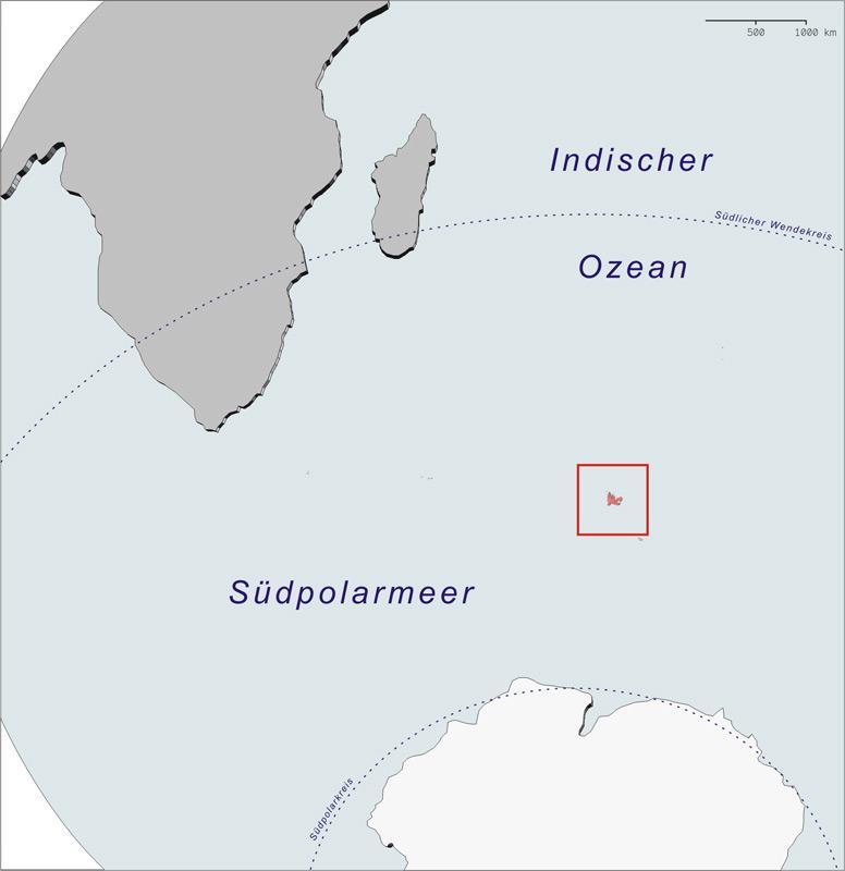 Die Inselgruppe der Kerguelen sind nach ihrem Entdecker, dem französischen Admiral de Kerguelen de Trémarec. Sie gehören zu den ältesten Inselgruppen der Welt mit rund 40 Millionen Jahren.