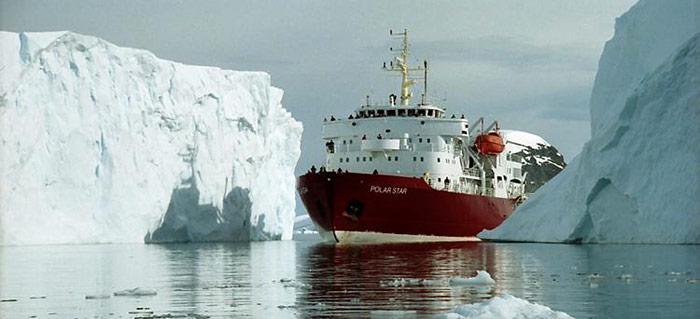 Polarstar-Eisberge