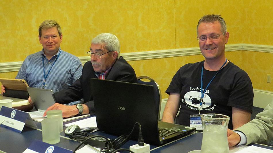 Erstmals war PolarNEWS an einer IAATO-Tagung mit dabei, vertreten durch Dr. Michael Wenger im Bild rechts.