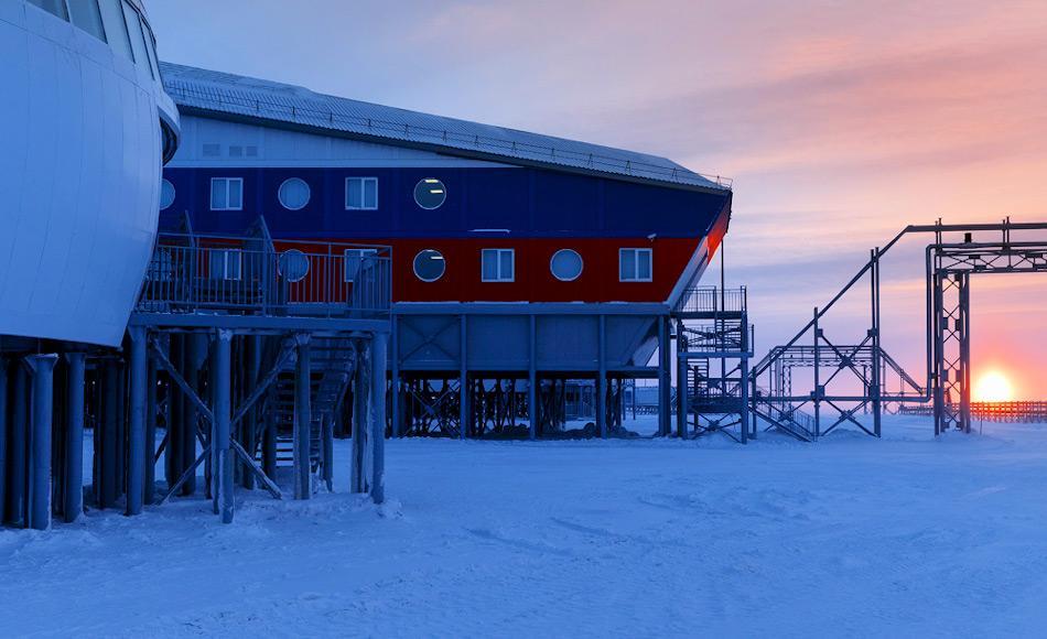 Die Militärbasis auf Aleksandra Land ist nur ein Komplex in Russlands Plänen die arktischen Streitkräfte zu modernisieren. Auf Wrangel Island ist gegenwärtig ein weiterer ähnlicher Komplex im Bau. Bild: Russisches Verteidigungsministerium