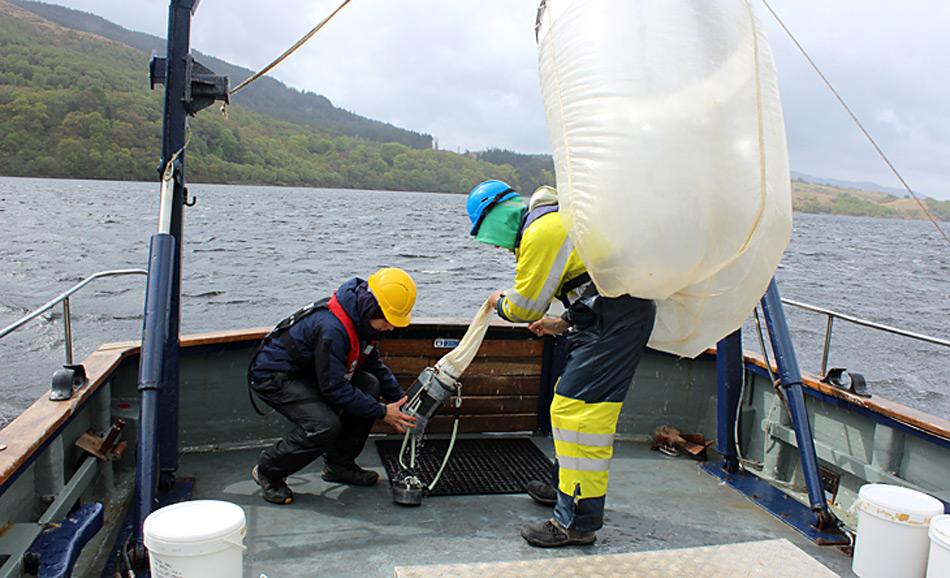 Einholen des Planktonnetzes, Foto: AWI / Sören Häfker