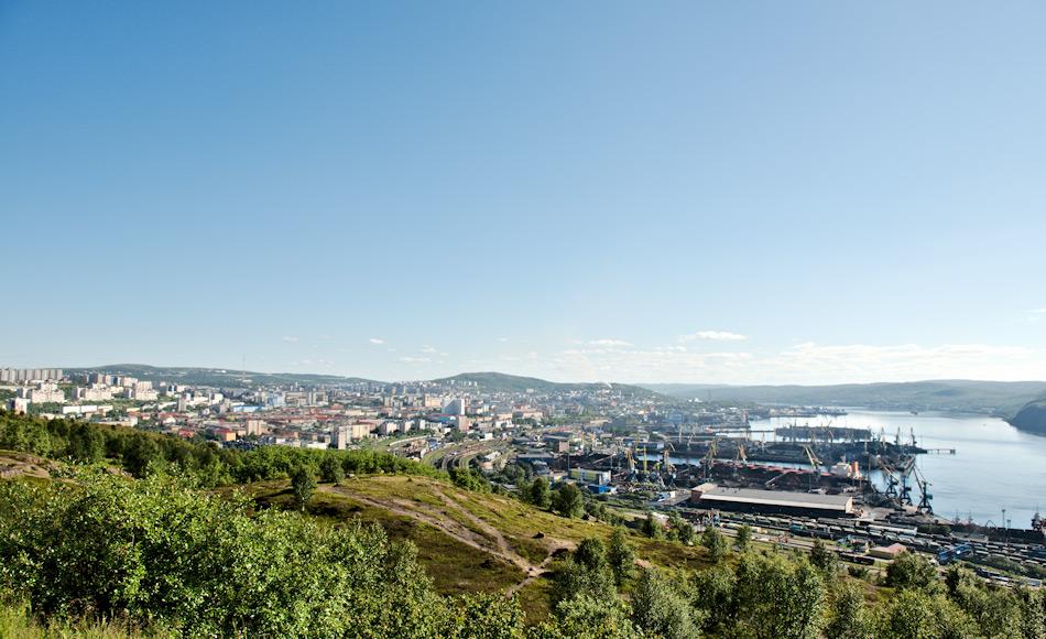 Murmansk ist die grösste Stadt in der russischen Arktis und der Heimathafen sowohl der russischen Nordmeerflotte wie auch der Atomeisbrecherflotte. Bild: Michael Wenger