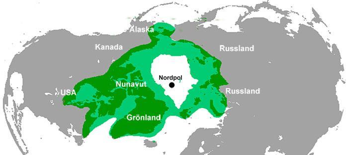 Verbreitungsgebiet - Eisbären