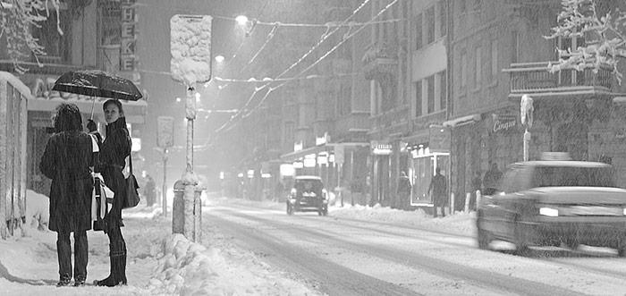 Schnee in Zuerich