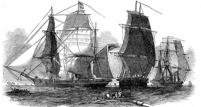 Eine grosse Suchexpedition im Jahr 1852 nach John Franklin leitete der englische Seefahrer Sir Edward Belcher.