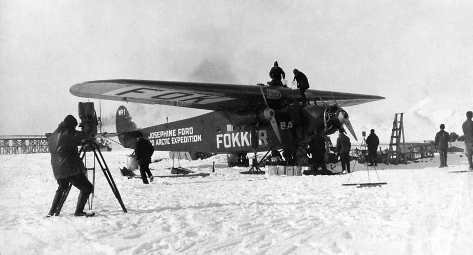Die Fokker F. VII a/3m von Richard Byrd mit der er den Nordpol erreichte. Die Maschine erhielt den Namen der Tochter Josephine seines Unterstützers Henry Ford.