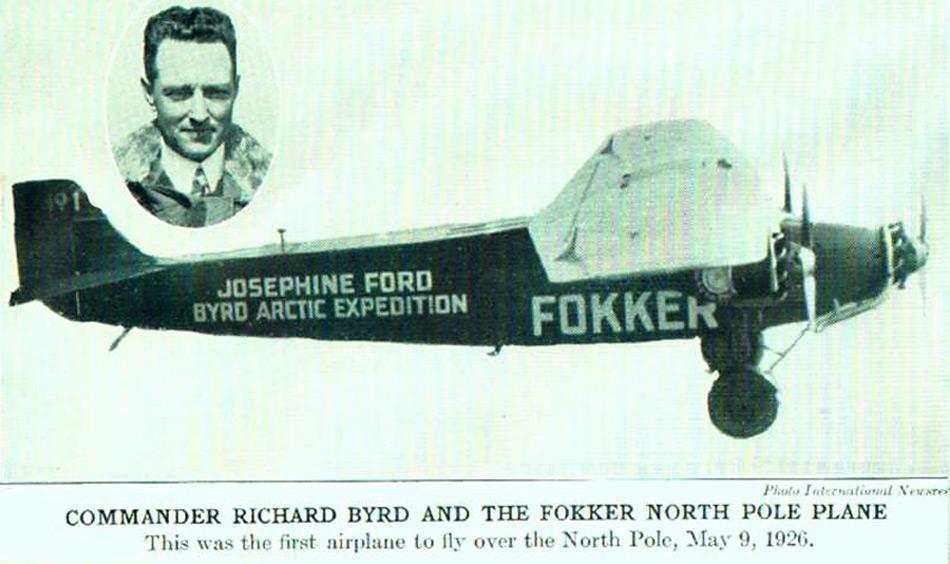 Byrd machte in der Presse Schlagzeilen. Später verlegte er seine Interessen in die Antarktis. Auf seiner 1. Antarktisexpedition (1928–1930) gelang ihm am 28./29. November 1929 mit seinem 3-motorigen Flugzeug «Floyd Bennett» der erste Überflug und die Umrundung des Südpols.