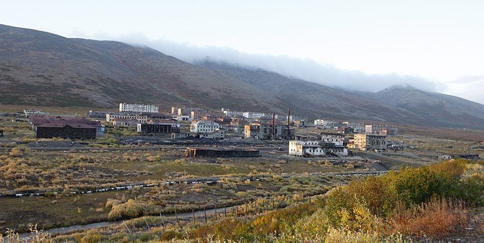 Der Verwaltungsort von Gudym, hier im Bild, war von den Wohneinheiten des Personals einige Kilometer entfernt.
