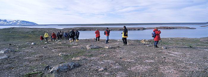 Touristen in Spitzbergen