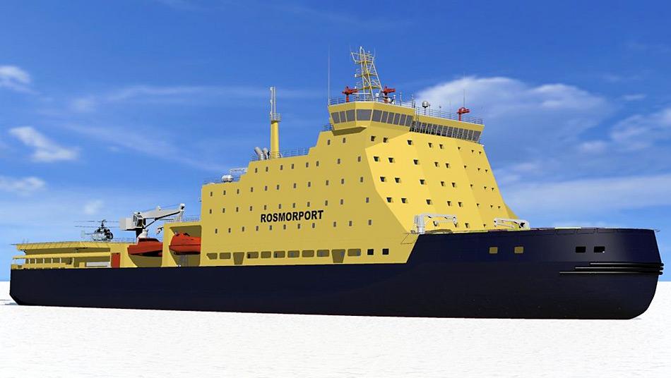 In den nächsten Jahren sollen mehrere russische Eisbrecher in Betrieb genommen werden.