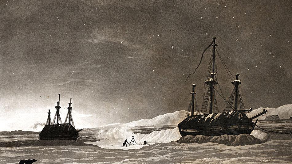 Der berühmteste Versuch, die Nordwestpassage zu durchqueren, wurde von Sir John Franklin 1845 mit zwei Schiffen, der Erebus und Terror, unternommen. Die Expedition schlug fehl und alle Männer starben im Verlauf der Expedition.