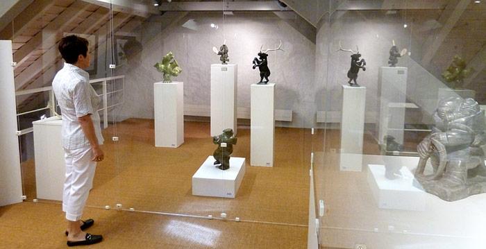 Ausstellung Besucher