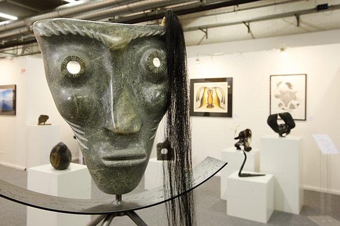Auch Kunstliebhaber kamen auf Ihre Rechnung. Die Cerny Inuit Collection zeigte verschiedene Kunstwerke aus der Arktis.