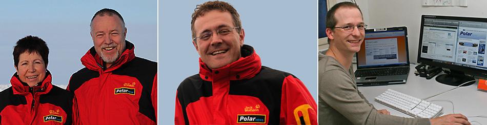 Die PolarNEWS-Online Crew wünsch Ihnen ein erfolgreiches neues Jahr. v.l.n.r. Heiner + Rosamaria Kubny – Herausgeber von PolarNEWS, Dr. Michael Wenger – Meeresbiologe, Polarguide, verantwortlich für den wissenschaftlichen Teil der Online-Ausgabe, Stefan Biller – Webmaster von PolarNEWS-Online.