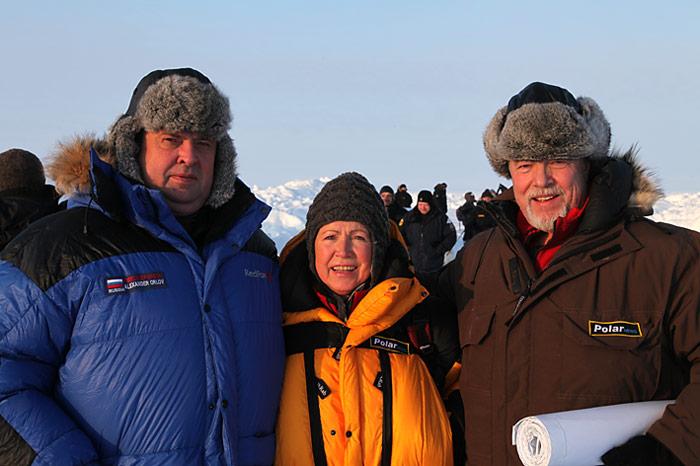 Extra von Moskau angeflogen kam Alexander Orlov, der Direktor des Camp Barneo.