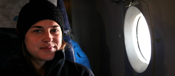 Nicole Ulrich unterwegs zum Nordpol